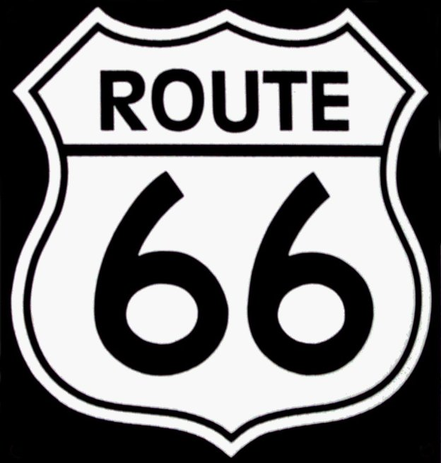 Route-66-BW-logo